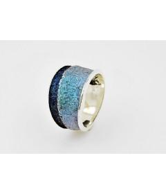 Pierścionek TROIA Formentera Blue srebro