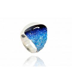 Pierścionek GALA Electric Blue srebro