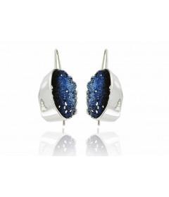 Kolczyki GALA Electric Blue srebro